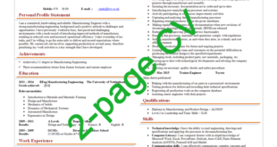 How To Maintain A Well-structured 2-page CV