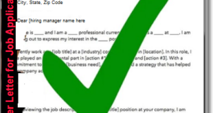 How to Write a Cover Letter for any Job application