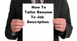 How to Tailor Resume